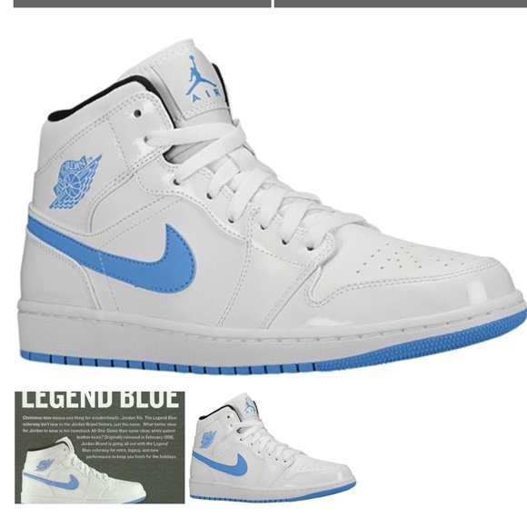 "6b44589b85d5 Jordan Shoes - Air Jordan 1 Mid ""Blue Legend"" Women s 8.5"